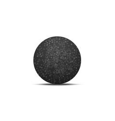 Dark ball shape with circles pattern vector