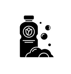 detergent black icon sign on isolated vector image
