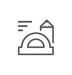 education line icon vector image