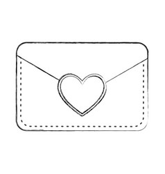 Envelope with heart card vector