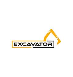 excavator logo design vector image