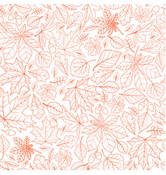 fall leaf nature seamless pattern autumn leaves vector image