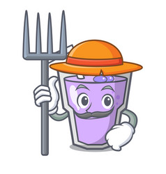 farmer berry smoothie character cartoon vector image