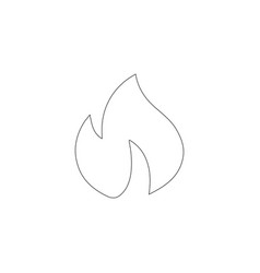 fire flame flat icon vector image
