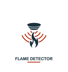 flame detector icon from sensors icons collection vector image