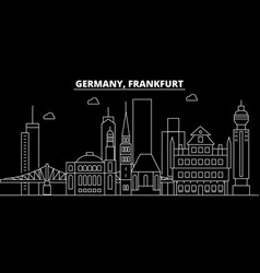 Frankfurt silhouette skyline germany - frankfurt vector