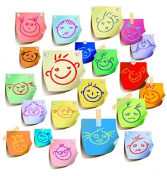 funny smiles vector image