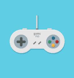 gamepad pixel art vector image