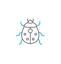 Garden pests linear icon concept garden pests vector