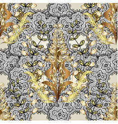 Golden pattern on white black and neutral colors vector