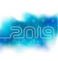 happy new year 2019 universal blured background vector image