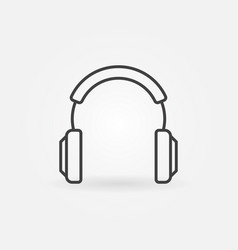 Headphones modern icon in thin line style vector