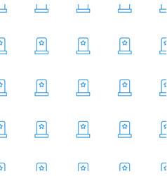 hero headstone icon pattern seamless white vector image
