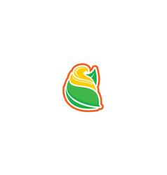 ice cream dessert icon logo vector image