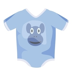 Infant bodysuit icon cartoon style vector