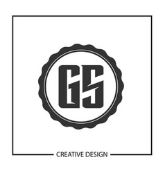 Initial letter gs logo template design vector