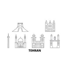 Iran tehran line travel skyline set tehran vector