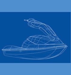 jet ski sketch vector image