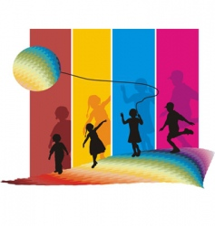 Kids on move vector