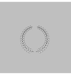 laurel wreath computer symbol vector image