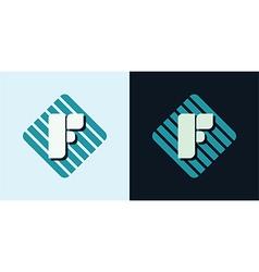 Letter F emblem vector