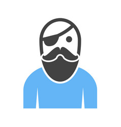 Male pirate vector