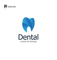 modern dental dentist tooth teeth logo icon vector image