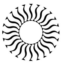 Monochrome fan shape artistic element vector
