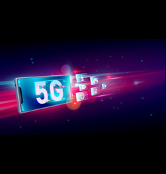 New 5th generation internet 5g network vector