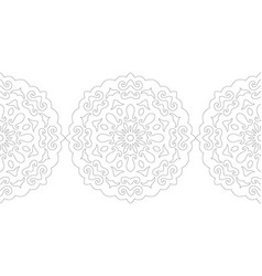 Ornate decorative snowflake on a white background vector
