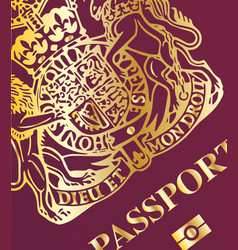 Passport closeup vector