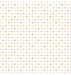 Pattern with colorful polka dots vector