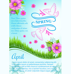 Poster for april spring holidays vector