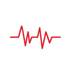 pulse icon graphic design template vector image