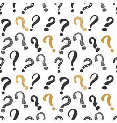 questions marks seamless pattern hand drawn vector image