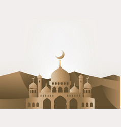ramadan kareem greeting background mosque vector image