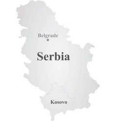 Republic of serbia map vector