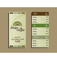 Restaurant and cafe menu Flat design With dream vector