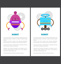 robot collection of posters vector image