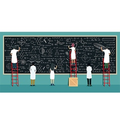 Scientists writing board vector image