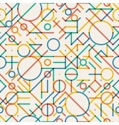 Seamless Multicolor Geometric Lines vector image