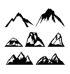 set icons mountains design element for logo vector image