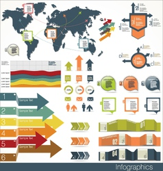 Set infographic elements vector