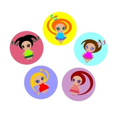 small girls vector image