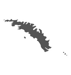 south georgia map black icon on white background vector image vector image