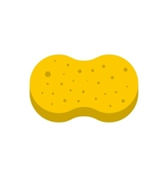 Sponge for washing icon flat style vector
