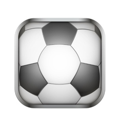 Square icon for football app or games vector