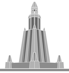 Stencil of alexandria lighthouse vector