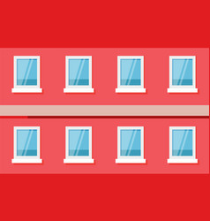 street building wall with windows architecture vector image