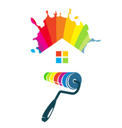 symbol for painting houses vector image